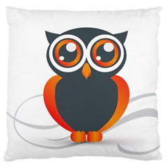 Owl Logo Standard Flano Cushion Case (one Side) by BangZart