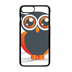 Owl Logo Apple Iphone 7 Plus Seamless Case (black) by BangZart