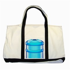 Large Water Bottle Two Tone Tote Bag by BangZart