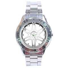 Wheel Skin Cover Stainless Steel Analogue Watch by BangZart