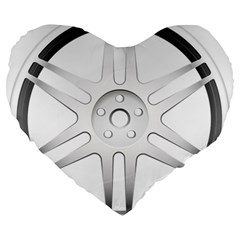 Wheel Skin Cover Large 19  Premium Heart Shape Cushions by BangZart