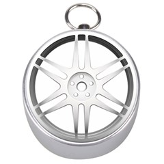 Wheel Skin Cover Silver Compasses by BangZart