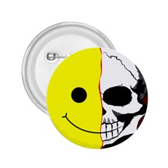 Skull Behind Your Smile 2 25  Buttons by BangZart