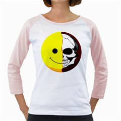 Skull Behind Your Smile Girly Raglans by BangZart