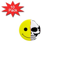 Skull Behind Your Smile 1  Mini Magnet (10 Pack)  by BangZart
