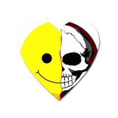 Skull Behind Your Smile Heart Magnet by BangZart