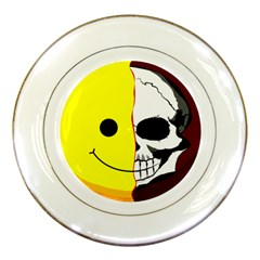 Skull Behind Your Smile Porcelain Plates by BangZart
