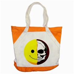 Skull Behind Your Smile Accent Tote Bag by BangZart
