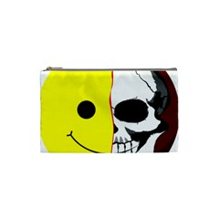 Skull Behind Your Smile Cosmetic Bag (small)  by BangZart
