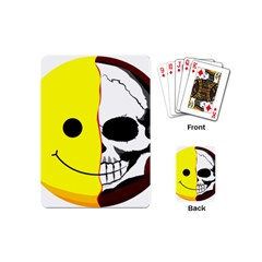 Skull Behind Your Smile Playing Cards (mini)  by BangZart