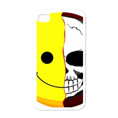 Skull Behind Your Smile Apple Iphone 4 Case (white) by BangZart