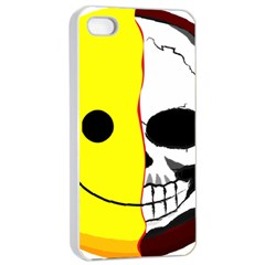 Skull Behind Your Smile Apple Iphone 4/4s Seamless Case (white) by BangZart