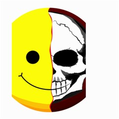 Skull Behind Your Smile Small Garden Flag (two Sides) by BangZart