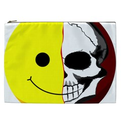 Skull Behind Your Smile Cosmetic Bag (xxl)  by BangZart