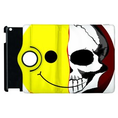 Skull Behind Your Smile Apple Ipad 3/4 Flip 360 Case by BangZart
