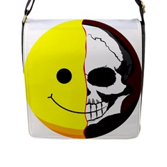 Skull Behind Your Smile Flap Messenger Bag (l)  by BangZart
