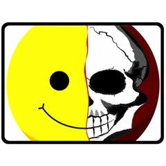 Skull Behind Your Smile Double Sided Fleece Blanket (large)  by BangZart