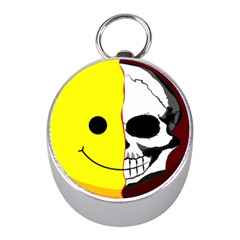 Skull Behind Your Smile Mini Silver Compasses by BangZart
