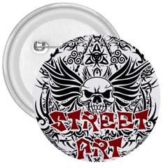 Tattoo Tribal Street Art 3  Buttons by Valentinaart