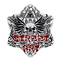Tattoo Tribal Street Art Snowflake Ornament (two Sides) by Valentinaart