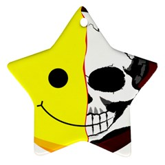 Skull Behind Your Smile Ornament (star) by BangZart