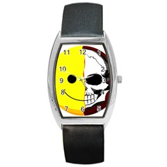 Skull Behind Your Smile Barrel Style Metal Watch by BangZart