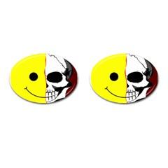 Skull Behind Your Smile Cufflinks (oval) by BangZart