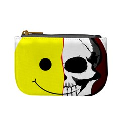 Skull Behind Your Smile Mini Coin Purses by BangZart