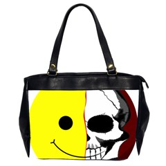 Skull Behind Your Smile Office Handbags (2 Sides)  by BangZart