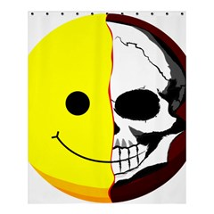 Skull Behind Your Smile Shower Curtain 60  X 72  (medium)  by BangZart