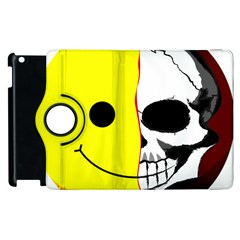 Skull Behind Your Smile Apple Ipad 2 Flip 360 Case by BangZart