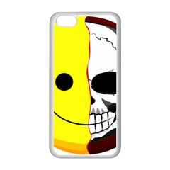 Skull Behind Your Smile Apple Iphone 5c Seamless Case (white) by BangZart