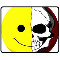 Skull Behind Your Smile Double Sided Fleece Blanket (medium)  by BangZart