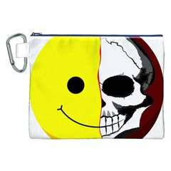 Skull Behind Your Smile Canvas Cosmetic Bag (xxl) by BangZart