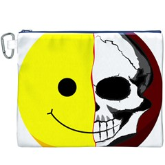 Skull Behind Your Smile Canvas Cosmetic Bag (xxxl) by BangZart
