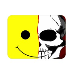 Skull Behind Your Smile Double Sided Flano Blanket (mini)  by BangZart