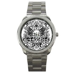 Tattoo Tribal Street Art Sport Metal Watch by Valentinaart