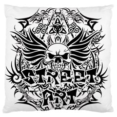 Tattoo Tribal Street Art Large Flano Cushion Case (one Side) by Valentinaart