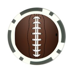 Football Ball Poker Chip Card Guard (10 Pack) by BangZart
