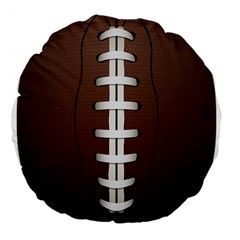Football Ball Large 18  Premium Flano Round Cushions by BangZart