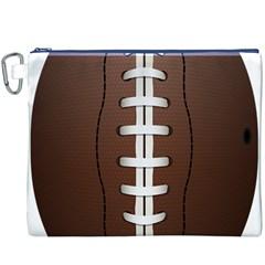 Football Ball Canvas Cosmetic Bag (xxxl) by BangZart