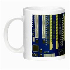 Classic Blue Computer Mainboard Night Luminous Mugs by BangZart