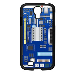 Classic Blue Computer Mainboard Samsung Galaxy S4 I9500/ I9505 Case (black) by BangZart