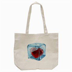 Heart In Ice Cube Tote Bag (cream) by BangZart