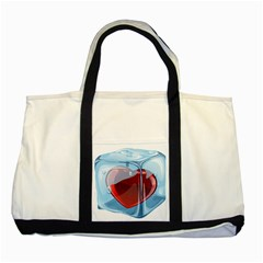 Heart In Ice Cube Two Tone Tote Bag by BangZart