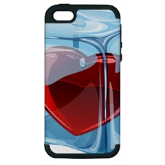 Heart In Ice Cube Apple Iphone 5 Hardshell Case (pc+silicone) by BangZart