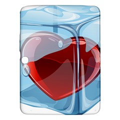 Heart In Ice Cube Samsung Galaxy Tab 3 (10 1 ) P5200 Hardshell Case  by BangZart