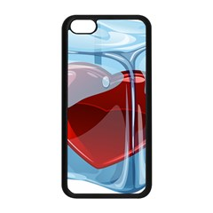 Heart In Ice Cube Apple Iphone 5c Seamless Case (black) by BangZart