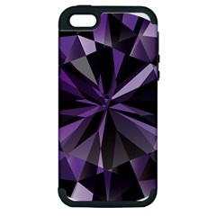 Amethyst Apple Iphone 5 Hardshell Case (pc+silicone) by BangZart