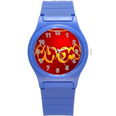 Easter Decorative Red Egg Round Plastic Sport Watch (s) by BangZart